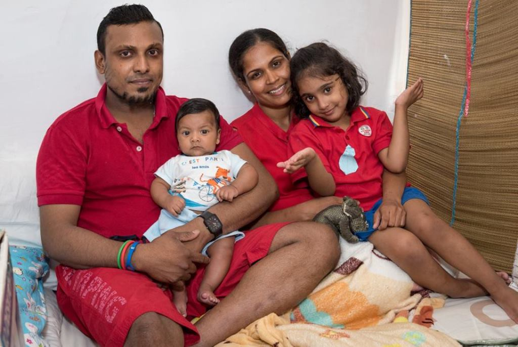Supun Kellapatha and Nadeeka Nonis are both refugees who fled persecution and torture in Sri Lanka. Credit: Snowden's Guardians/Facebook.com