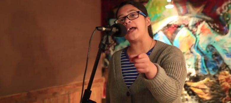Watch this college student blast Honey Singh's misogynistic lyrics with her own rap