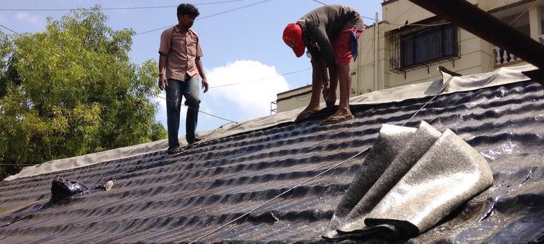 For Workers Tarring Mumbai S Roofs Summer Is Both The