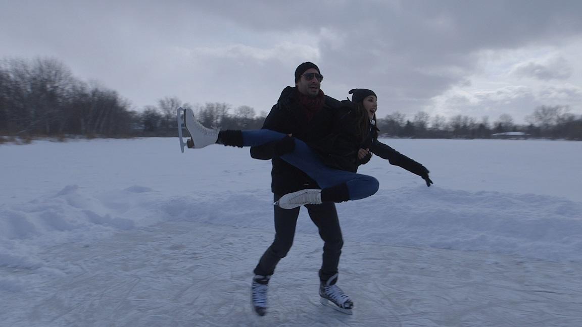 Sunny Leone and Daniel Weber near her childhood home in Sarnia, Canada. Courtesy Dilip Mehta.