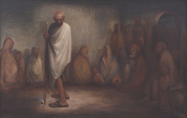 'I See No Light: Let No Man Put Asunder' (Oil on canvas, n.d., exhibited 1971).