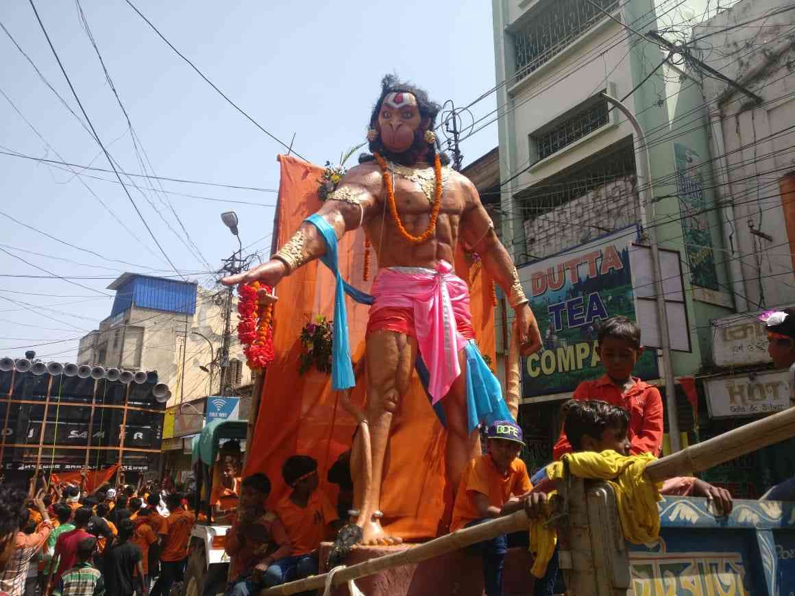 The Trinamool Ram Navami parade on Sunday. Credit: Shoaib Daniyal
