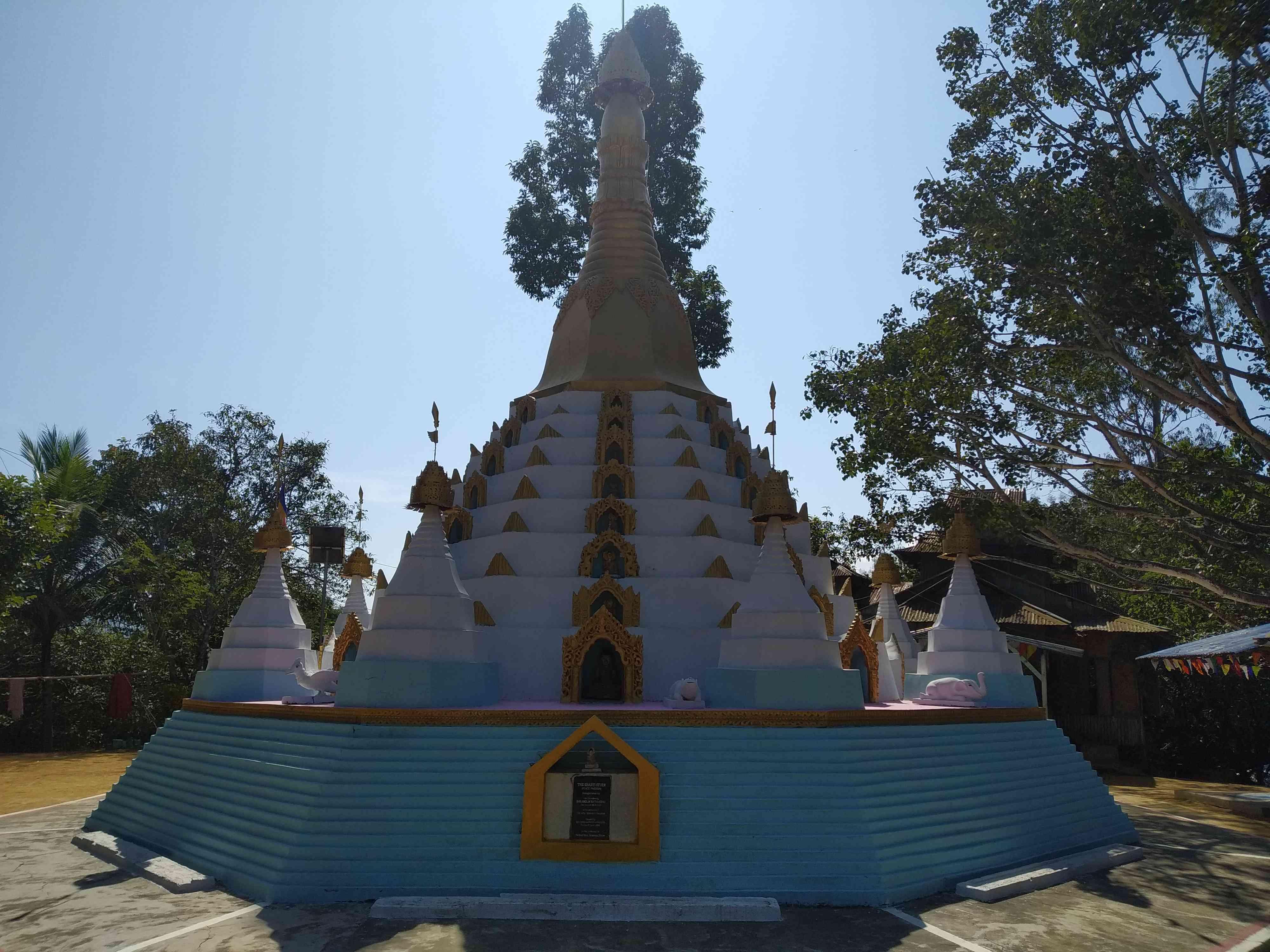 A Buddhist stupa in Kamalanagar