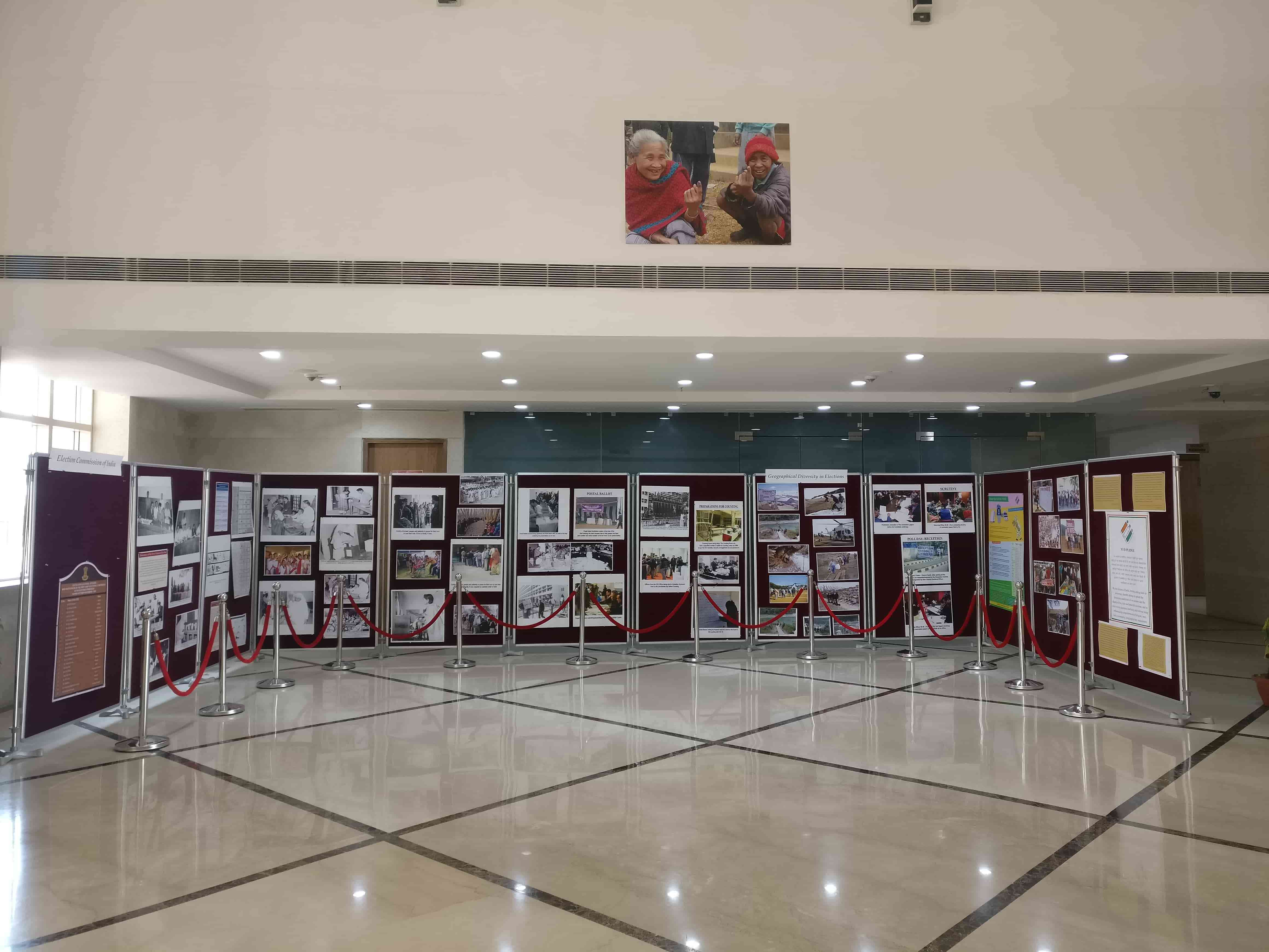 The institute will house the Election Commission of India's museum, but for now it has an exhibition of some documents and photographs. Photo credit: Shreya Roy Chowdhury