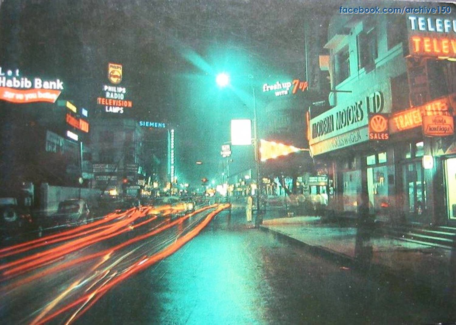 Karachi's busy Saddar area in 1974.