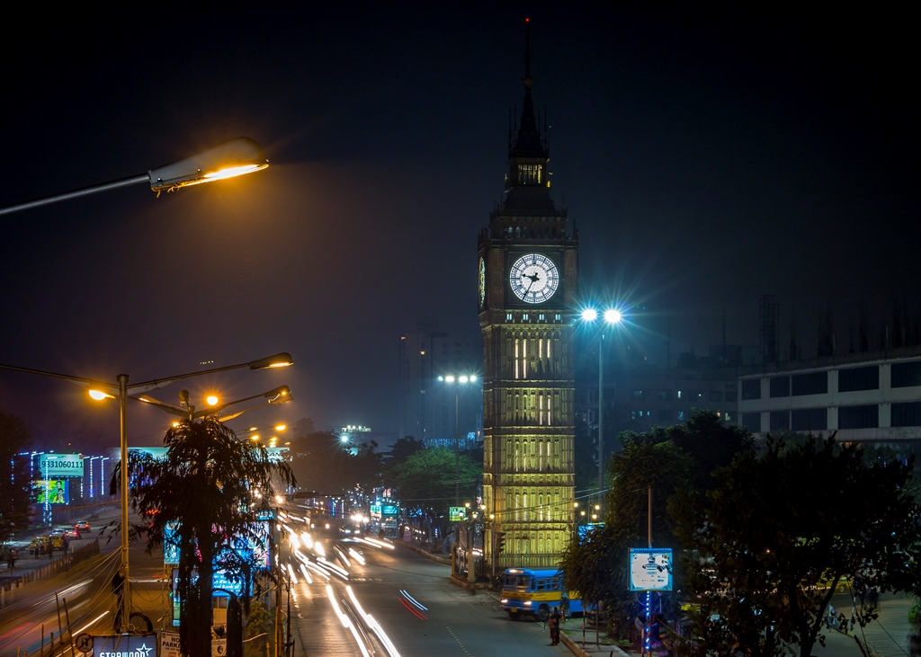 Lake Town Clock Tower. Photo credit: Deepanjan Ghosh.