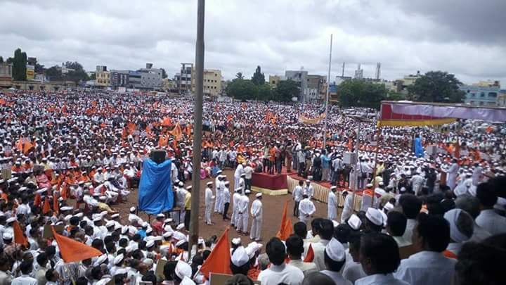Thousands of people attend a rally organised by a Lingayat group in Karnataka, in July 2017, demanding that the community be granted religious minority status.