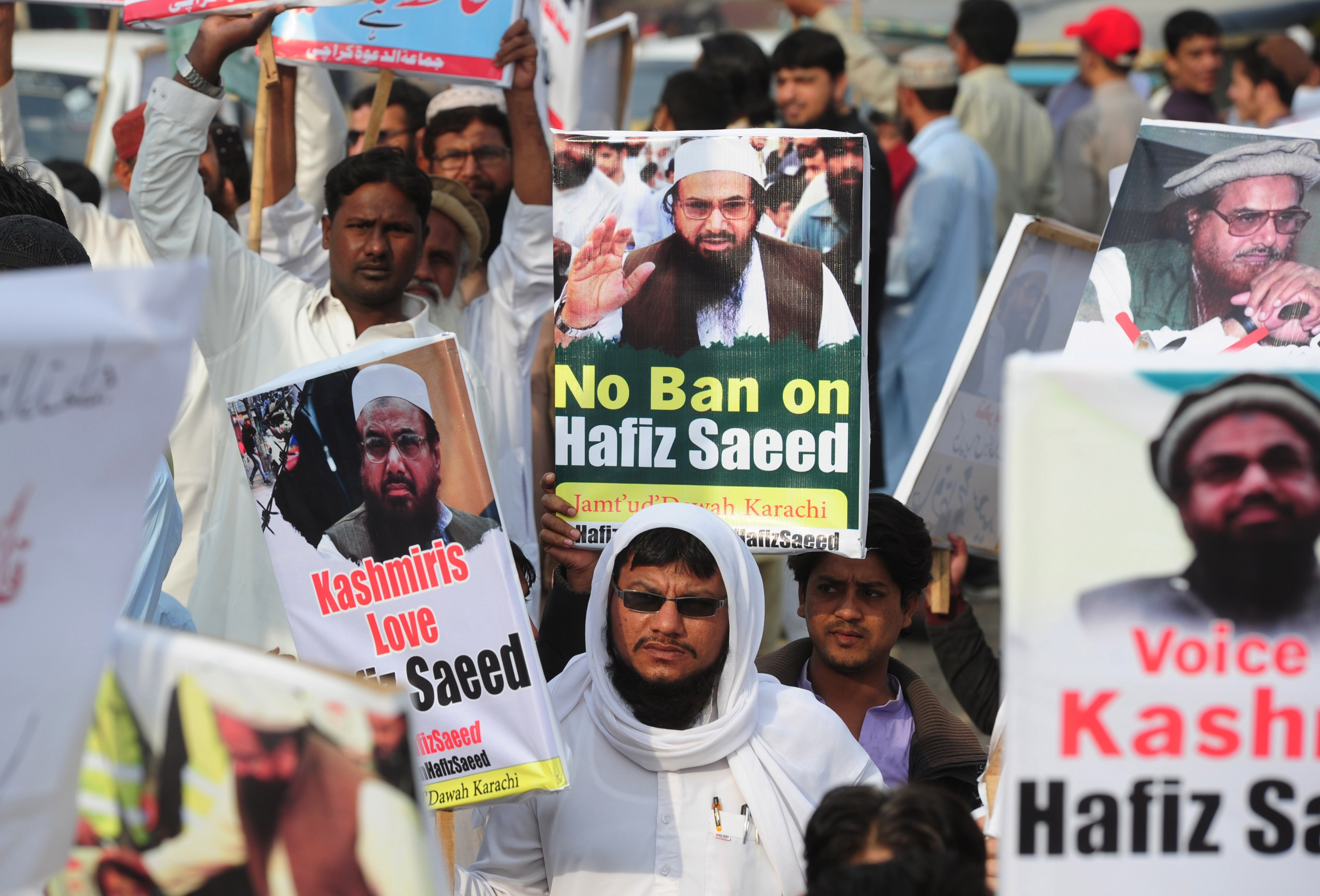 Even if it does not translate into votes, Hafiz Saeed seems to enjoy a growing political cache. (Credit: Asif Hassan / AFP)