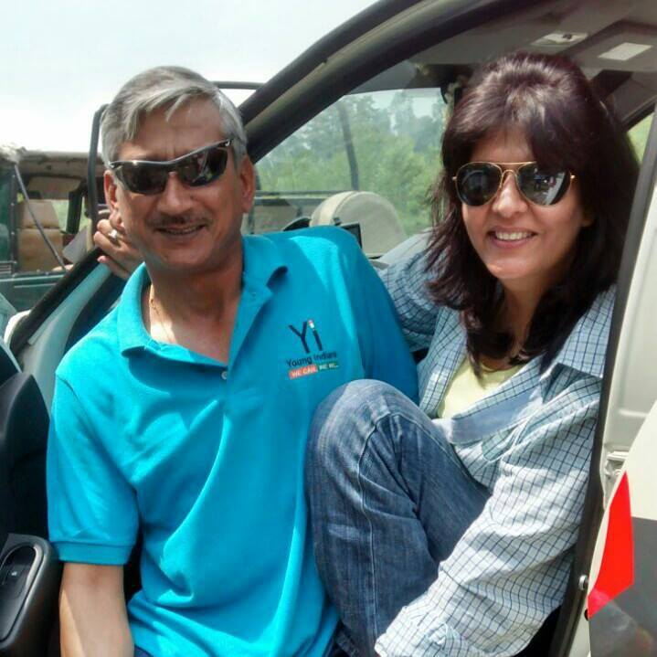 Deepa Malik and her husband, retired Colonel BS Malik. Image credit: Deepa Malik's Facebook Page