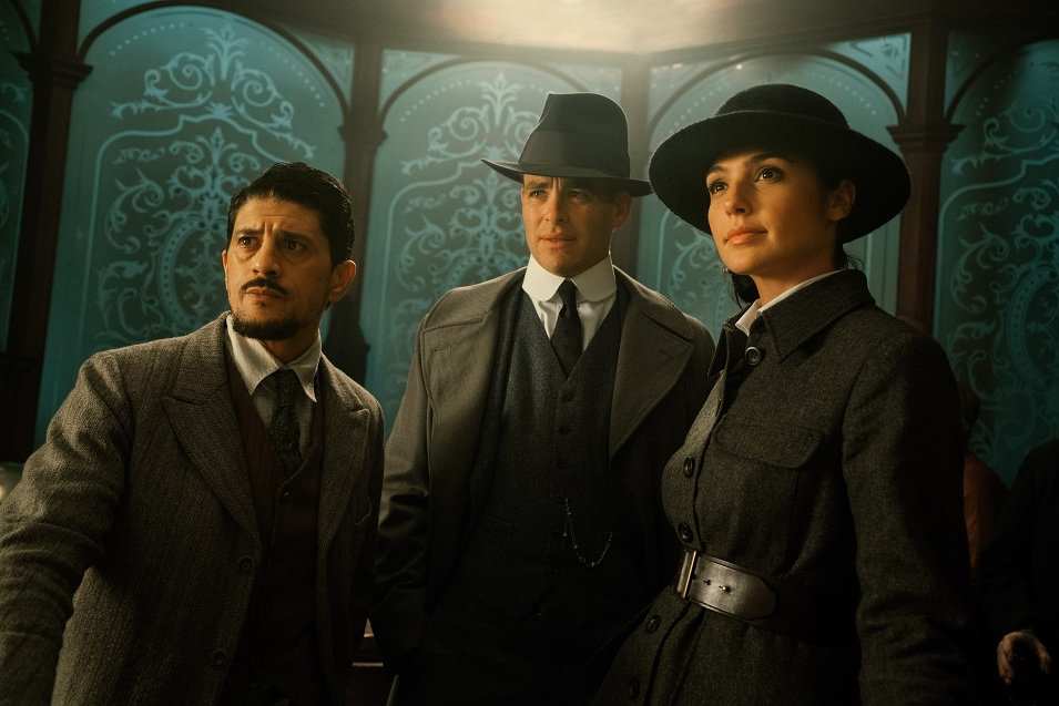 Said Taghmaoui, Chris Pine and Gal Gadot in Wonder Woman. Courtesy Warner Bros.