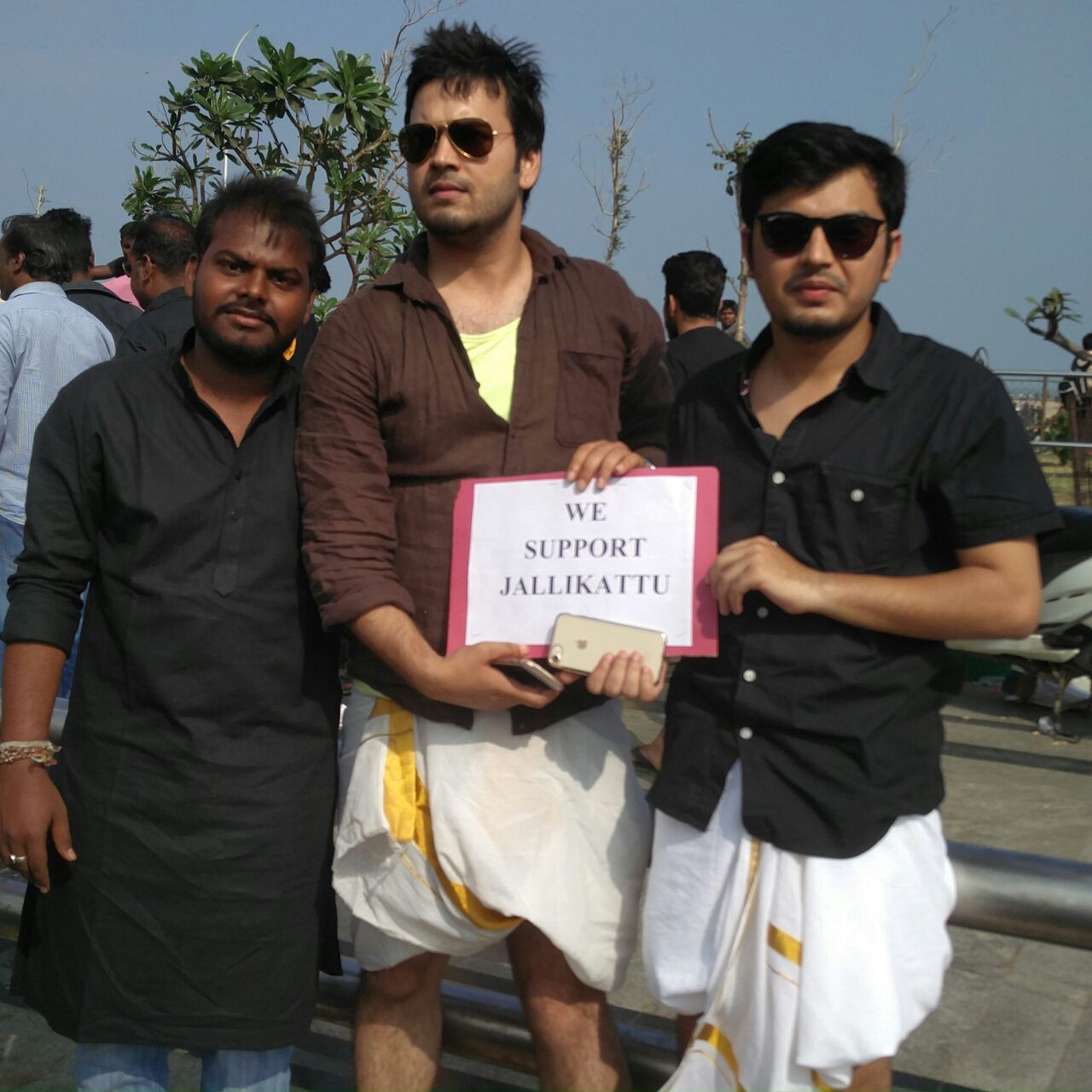 Bhowmik (right) supports jallikattu.