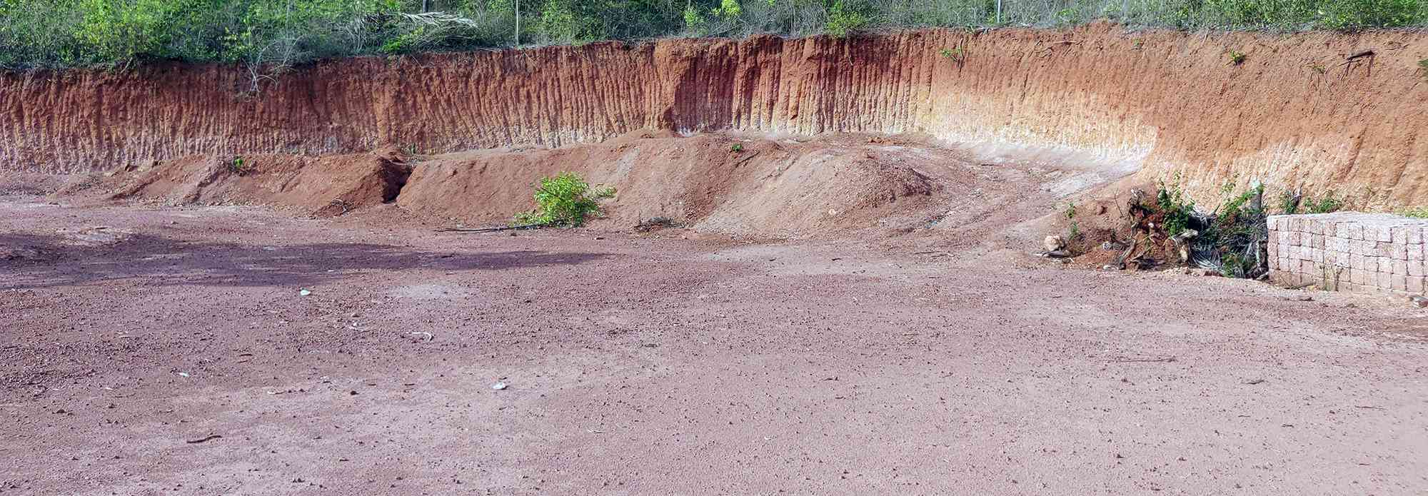 A destroyed laterite hill in Karivellur, Kannur. Photo credit: TA Ameerudheen