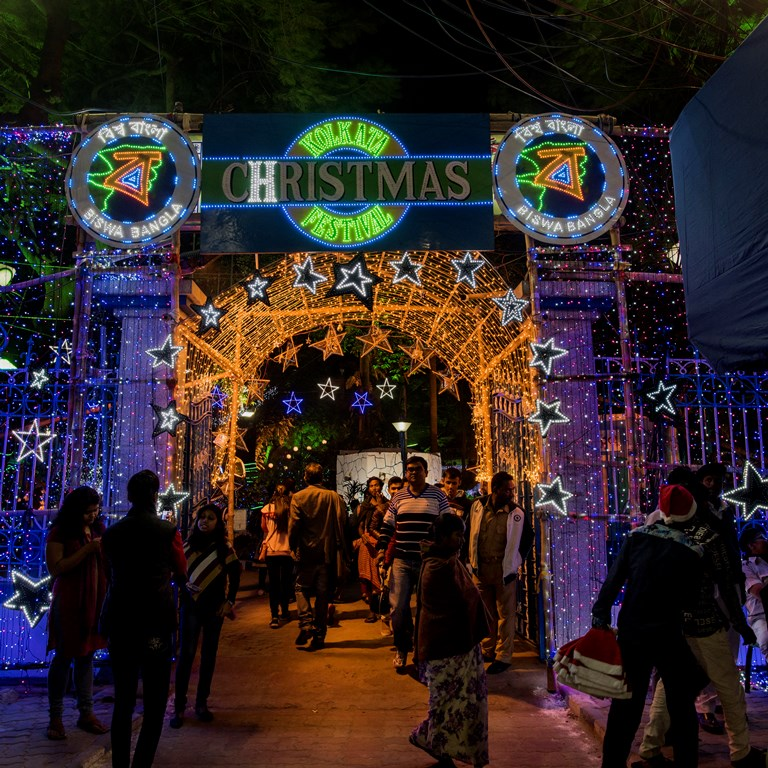 Park Street Kolkata During Christmas.How Mamata Banerjee Stole The Spirit Of Christmas In Kolkata