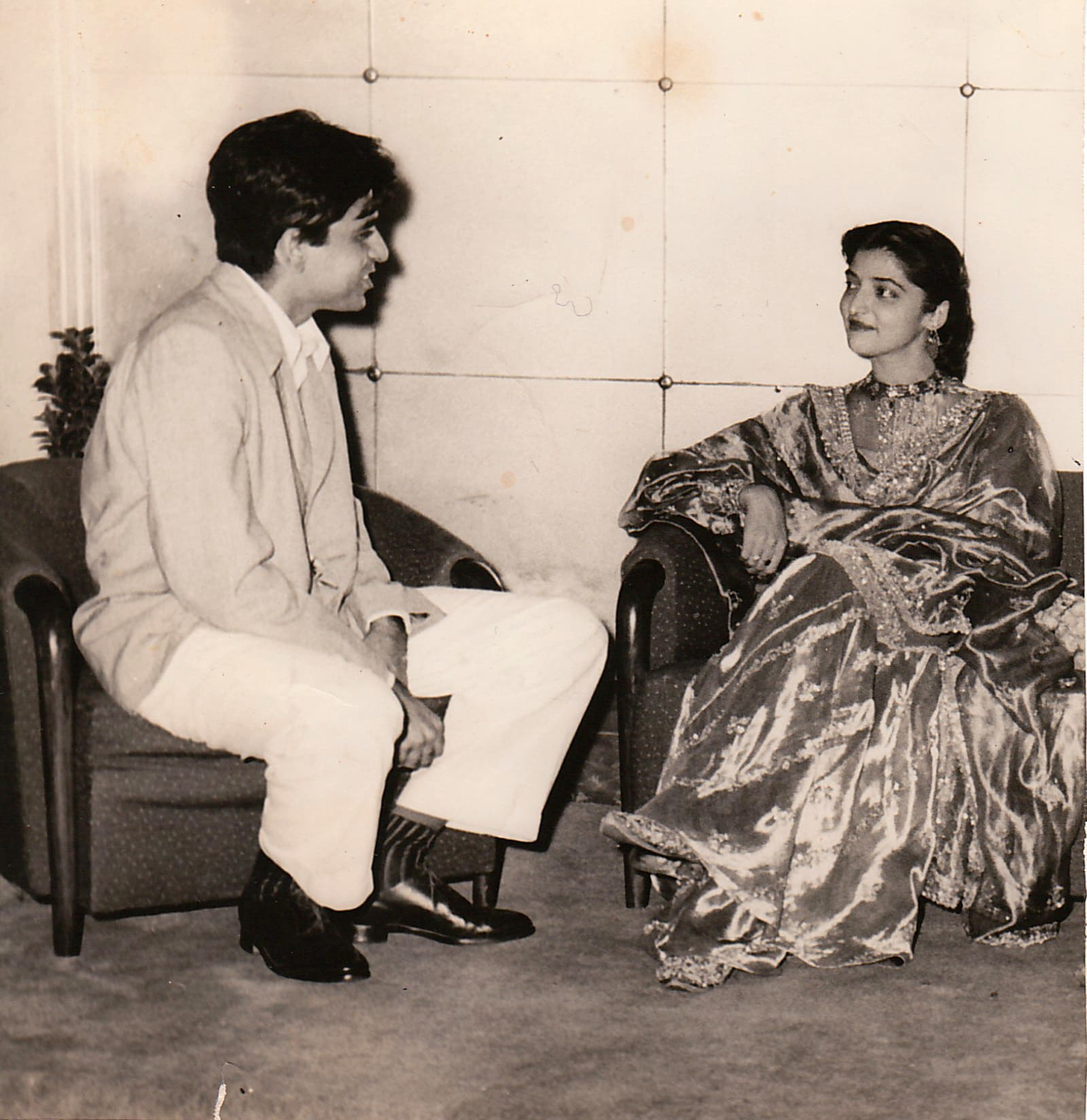 With Dilip Kumar