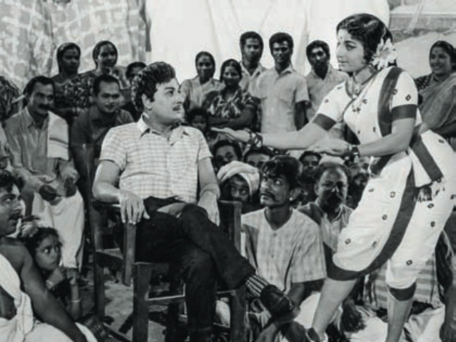 MGR and Jayalalithaa in Nama Nadu (1969).