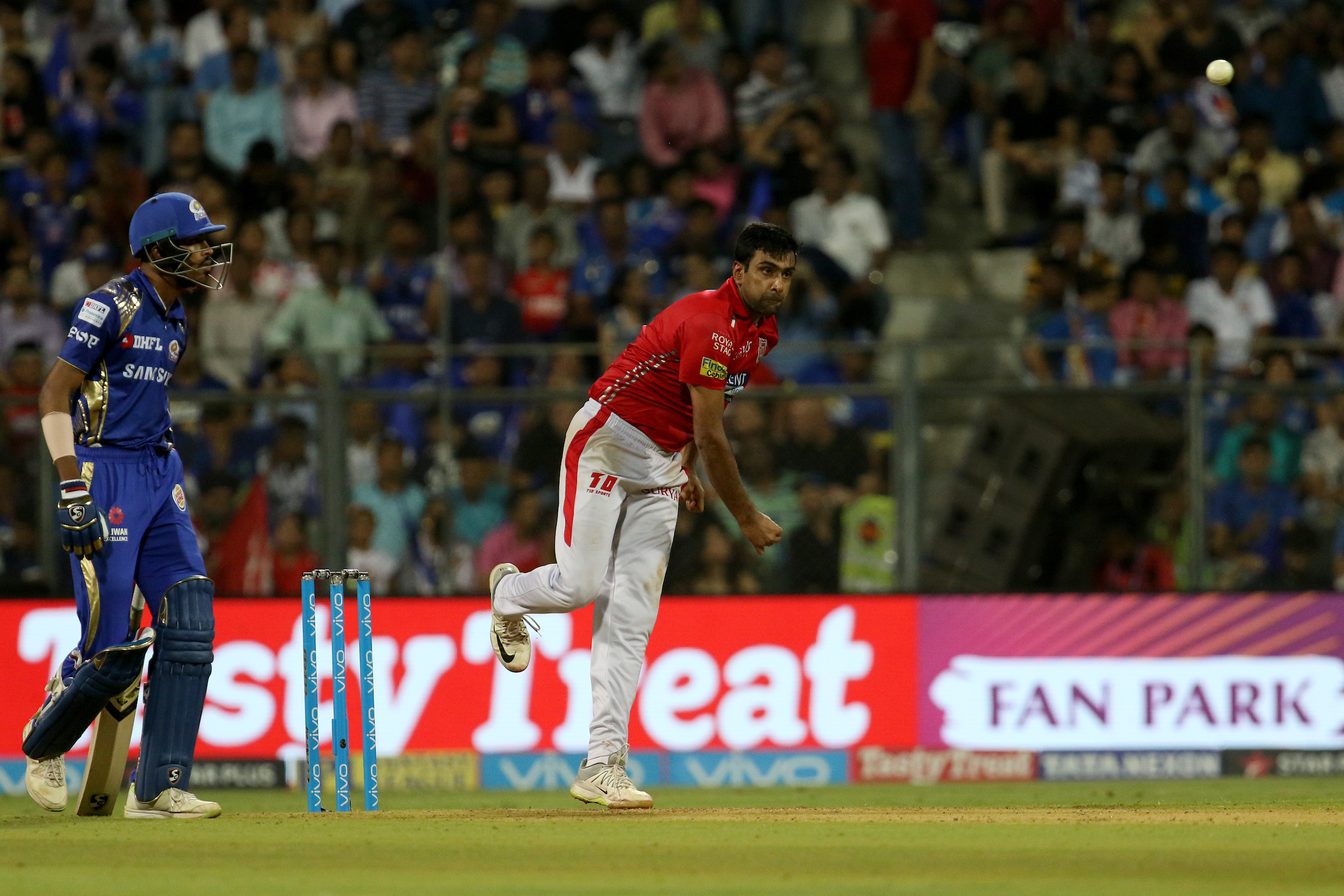 R Ashwin has eight wickets in 13 matches this season (Image: Sportzpics)