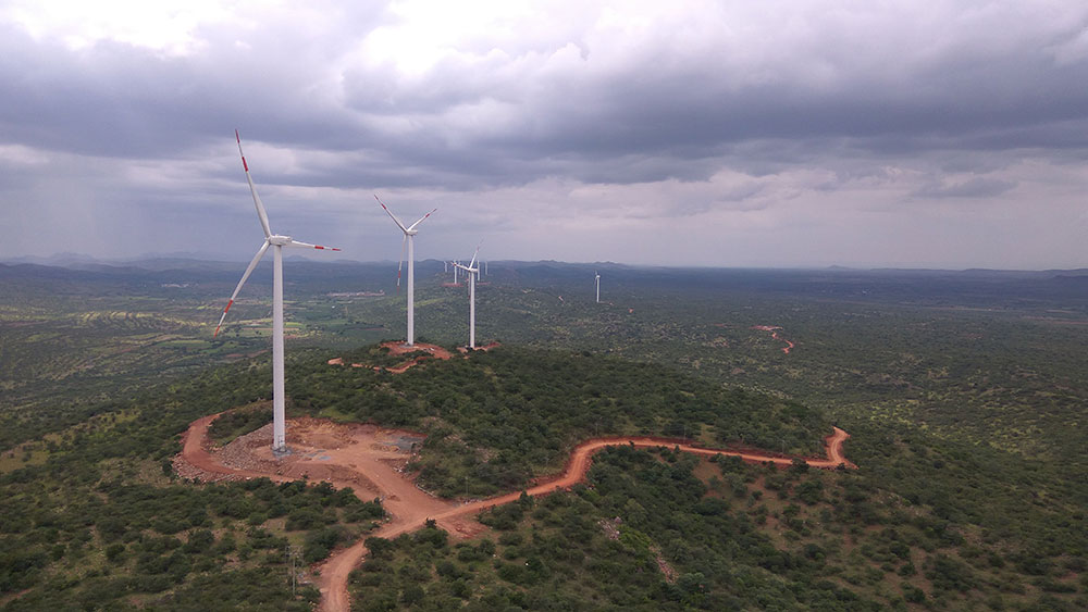 A ReNew Power wind project in Ellutla, Andhra Pradesh. Photo credit: ReNew Power