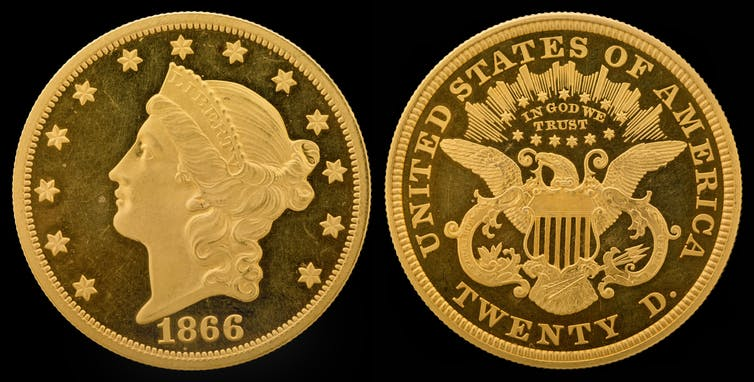 The 1849 Liberty Head design by James B. Longacre. Photo credit: National Numismatic Collection, National Museum of American History/Wikimedia Commons