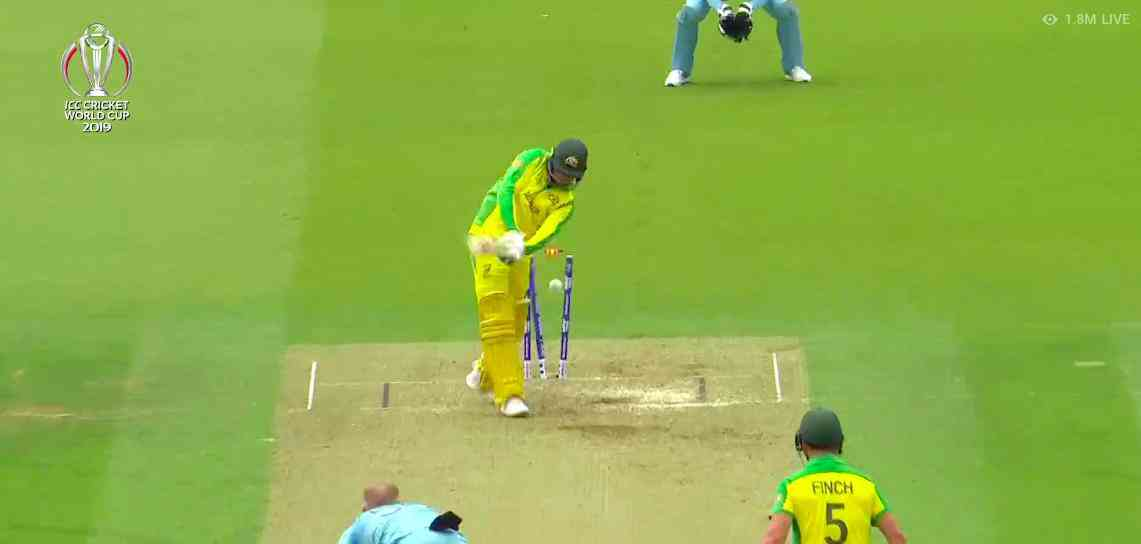 Usman Khawaja is bowled by Ben Stokes | Screengrab from Hotstar