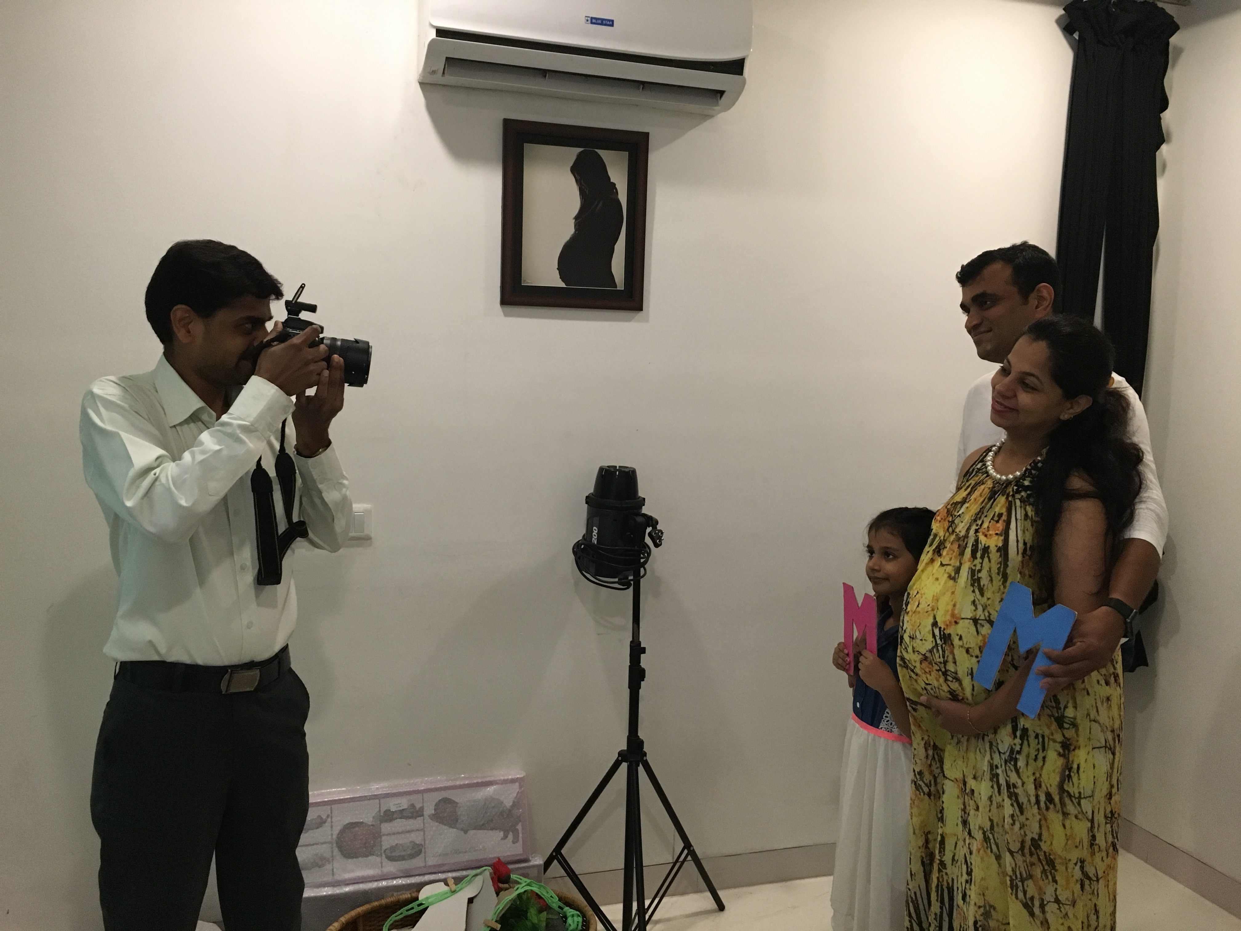 Cloudnine hospital's photographer Arvind Shinde at work. (Photo: Priyanka Vora)