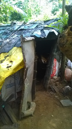 The hut in which the Maru Mukhris live. Photo: Narasimha TV