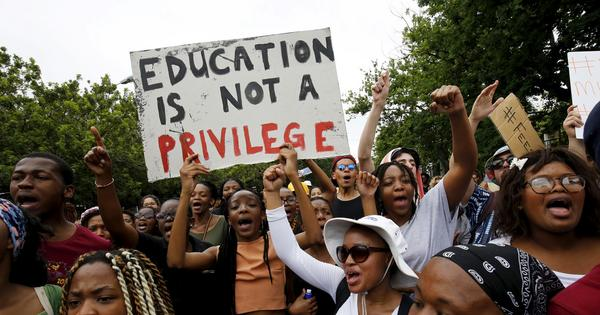 South African student protests herald the re-emergence of people's power