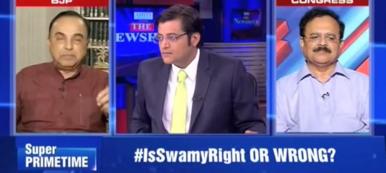 This remix of Arnab and Swamy yelling at each other could be the next dancefloor super-hit
