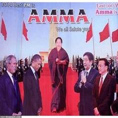 How Jayalalithaa used posters to transform herself from a film star into the Amma of Tamil Nadu
