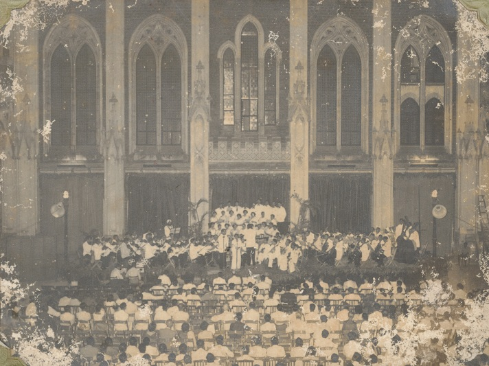 St Xavier's College played host to a concert by Anthony Gonsalves in April 1958.