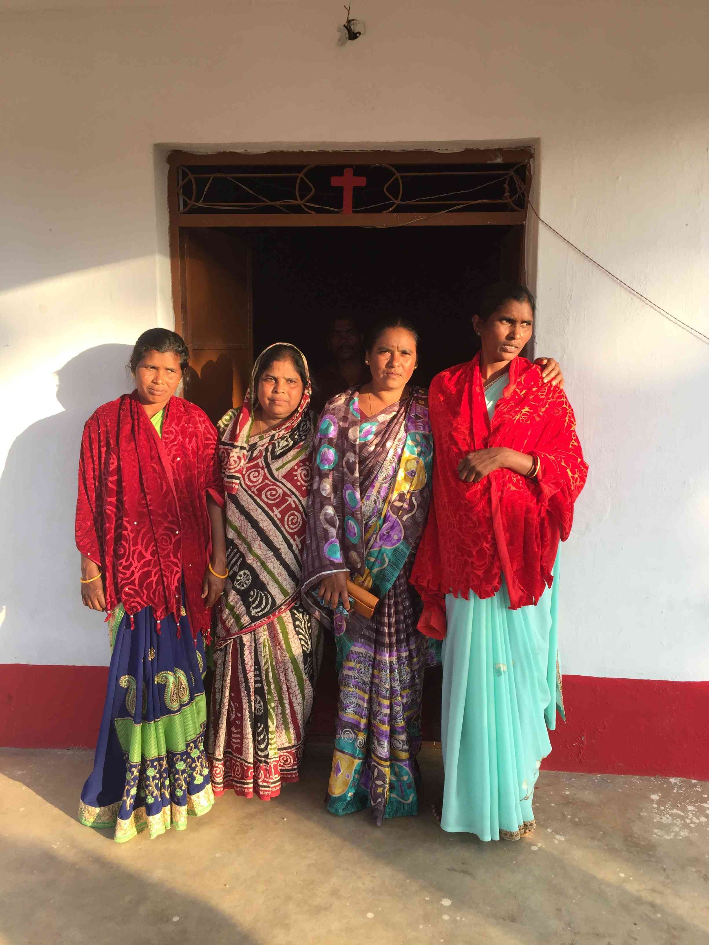 Pushpanjali Panda (second from left) and the other widows of Kandhamal still bear the burden of the vivid details of their husbands' deaths. (Credit: Priya Ramani)