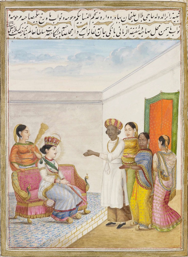 The court of Wajid Ali Shah. Image credit: Royal Collection Trust/Wikimedia Commons [Public Domain]