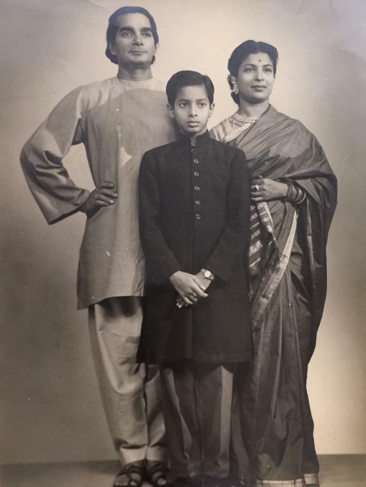 Ananda with his parents, Uday and Amala Shankar. Courtesy Tanusree Shankar.