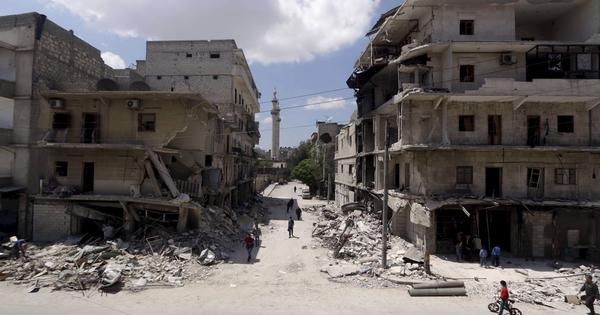 At least 14 killed after Syrian rebels fire rockets at government-held areas in Aleppo city