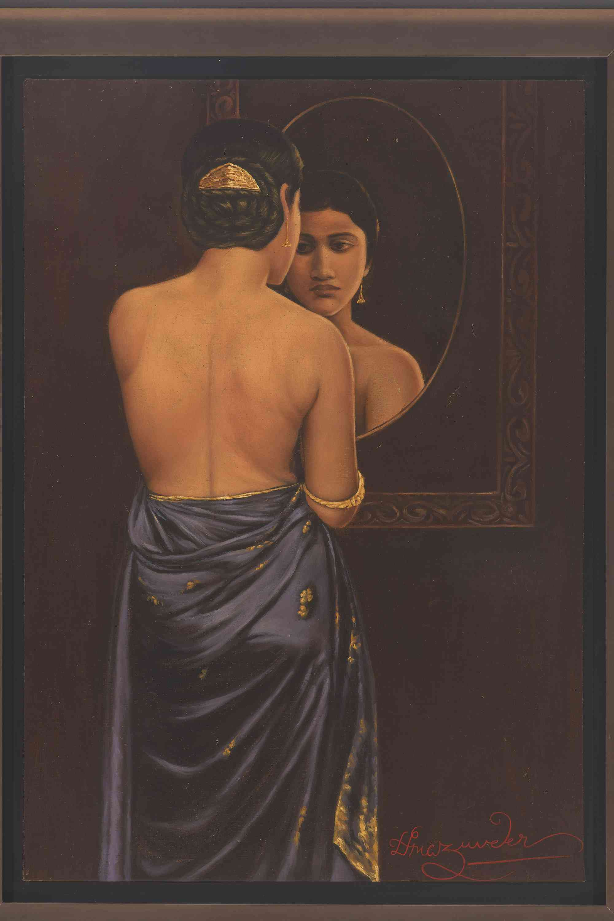 'Image', 86.4x60.3 cm, oil on canvas. Image courtesy: Kumar Collection.