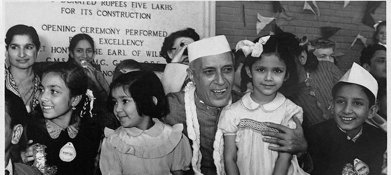 Charming footage of Nehru talking to kids about the need for children's films