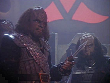 Klingons, the next generation. Photo credit: © 1991 Paramount Pictures