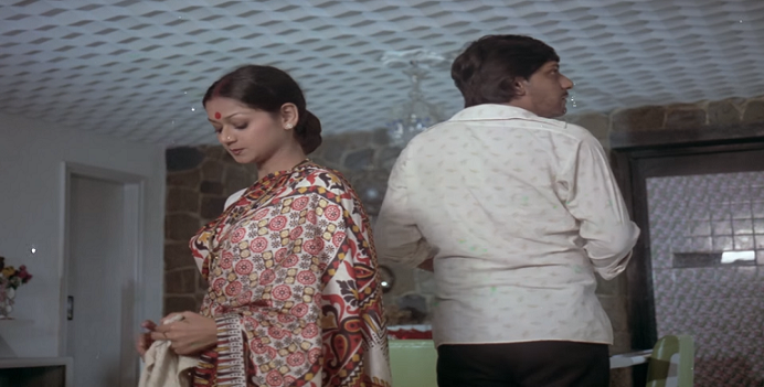 Zarina Wahab and Amol Palekar in Gharonda (1977).