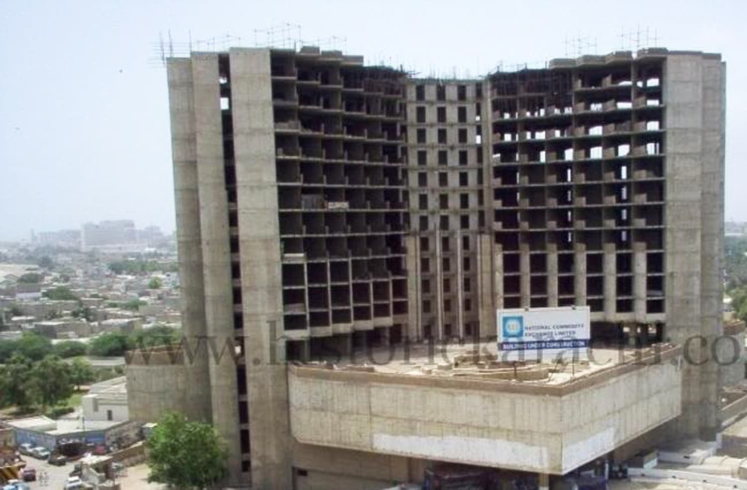 The incomplete building of what was supposed to be one of the largest 5-star hotels in Asia.