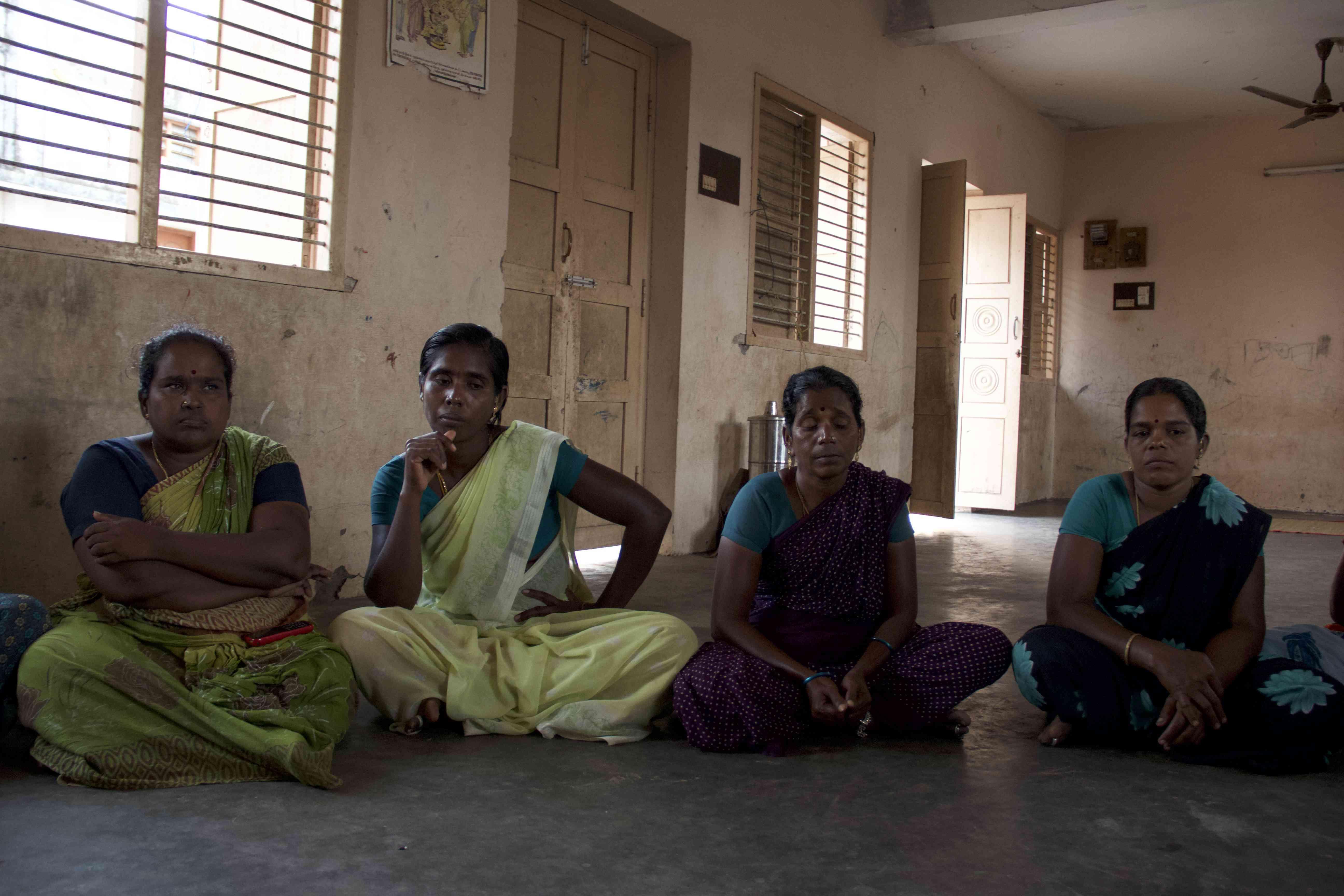 Women fish workers at Vellapalam village in Nagapattinam district in Tamil Nadu. Photo Credit: M Palanikumar|Pepcollective