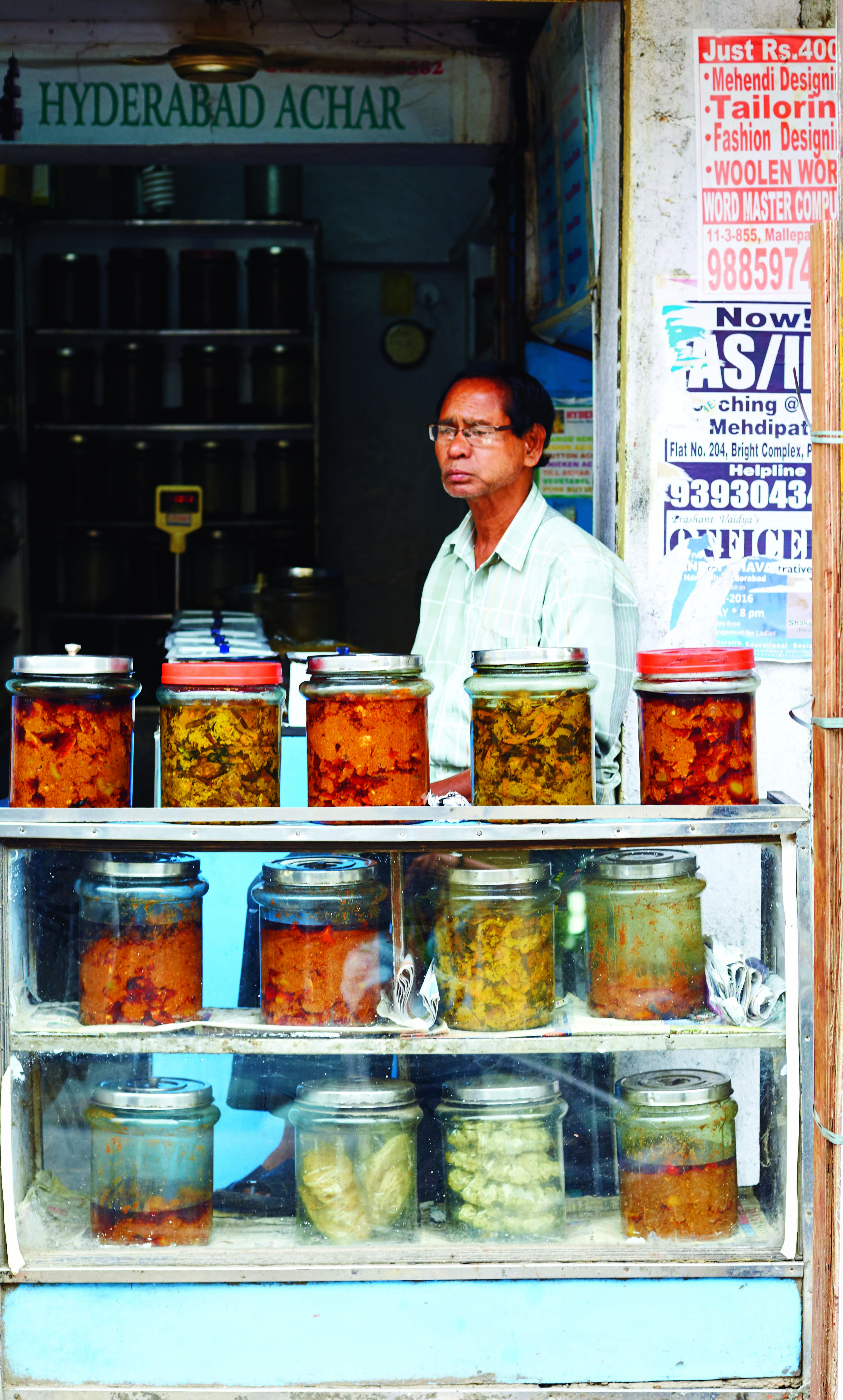 A pickle shop in the Old City. Courtesy: Saffron and Pearls, Doreen Hassan, Harper Collins.