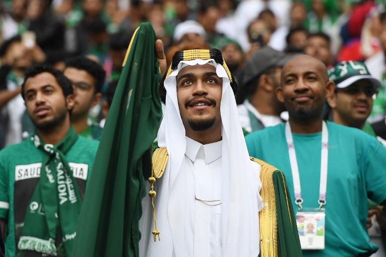 Saudi Arabia fans | Image credit: AFP