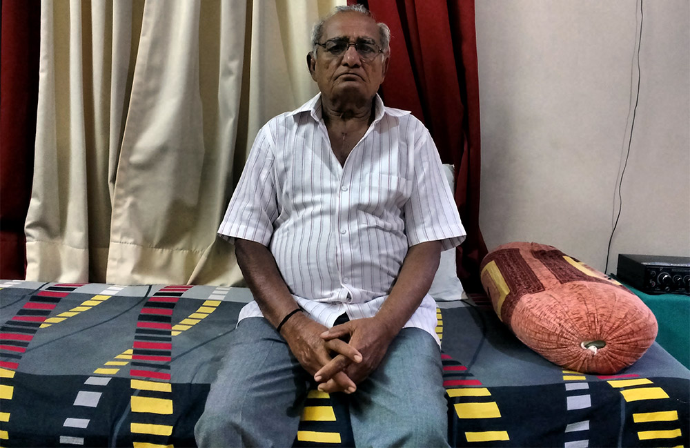 Shrinivas Loya at his residence in Latur. Credit: Mridula Chari