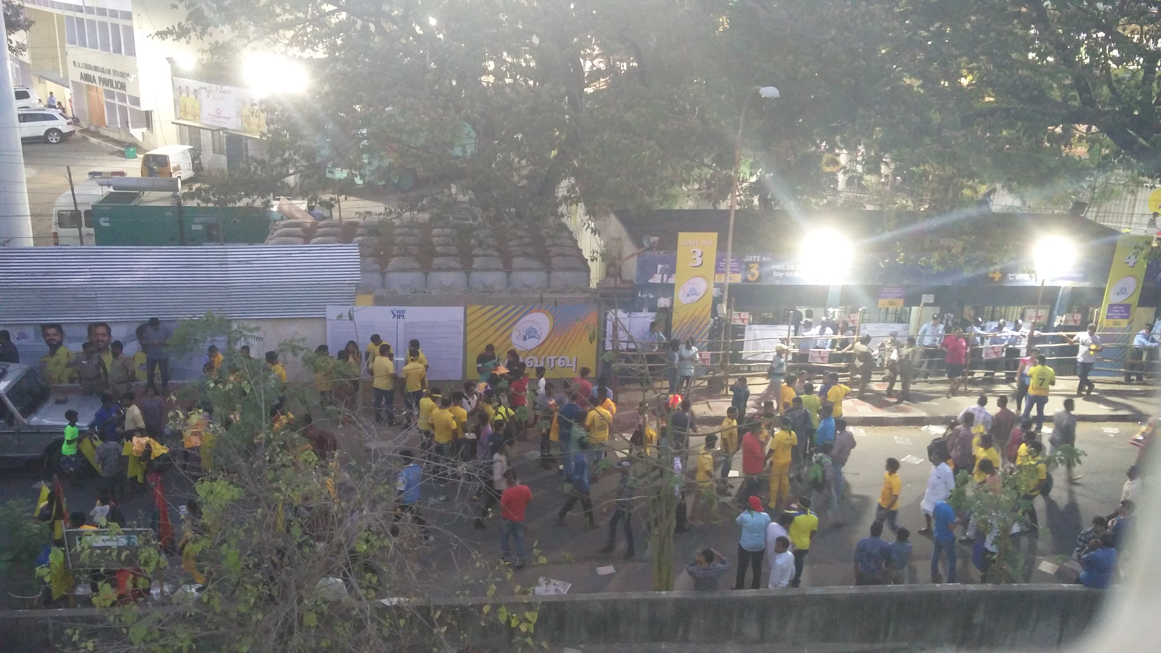 Scenes outside the stadium before the match (Vinita Govindarajan/Scroll.in)