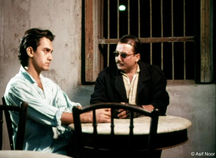 Aamir Khan and Pankaj Kapur in Raakh. Image credit: Asif Noor.