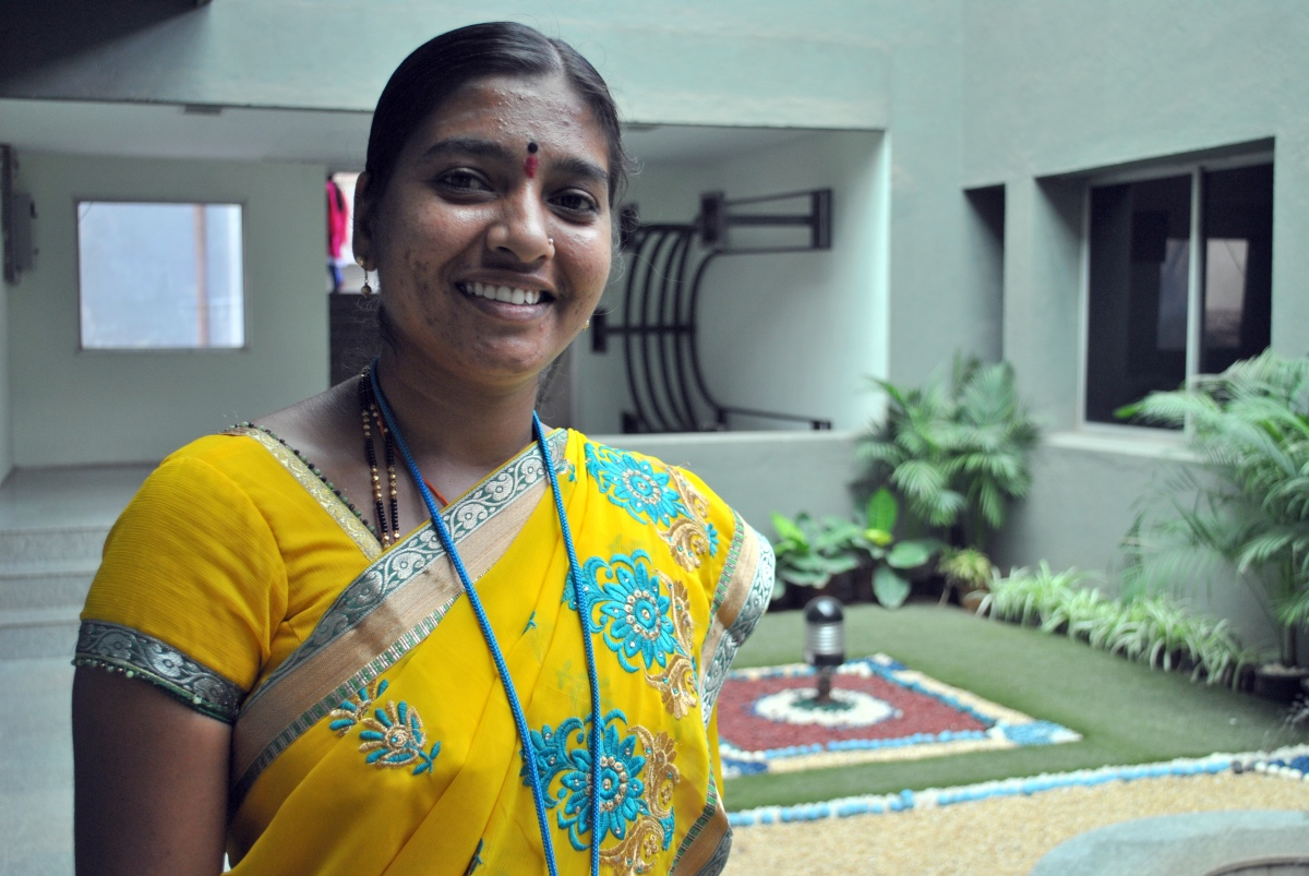 Garment factory manager Kasturi. (Photo credit: Rohini Mohan).