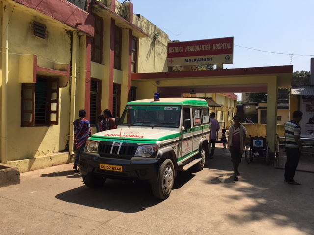 The only hospital in Malkangiri where children with Japanese encephalitis  are undergoing treatment. The hospital got a padeiatric intensive care unit only after children with Japanese encephalitis started dying. Photo: Priyanka Vora