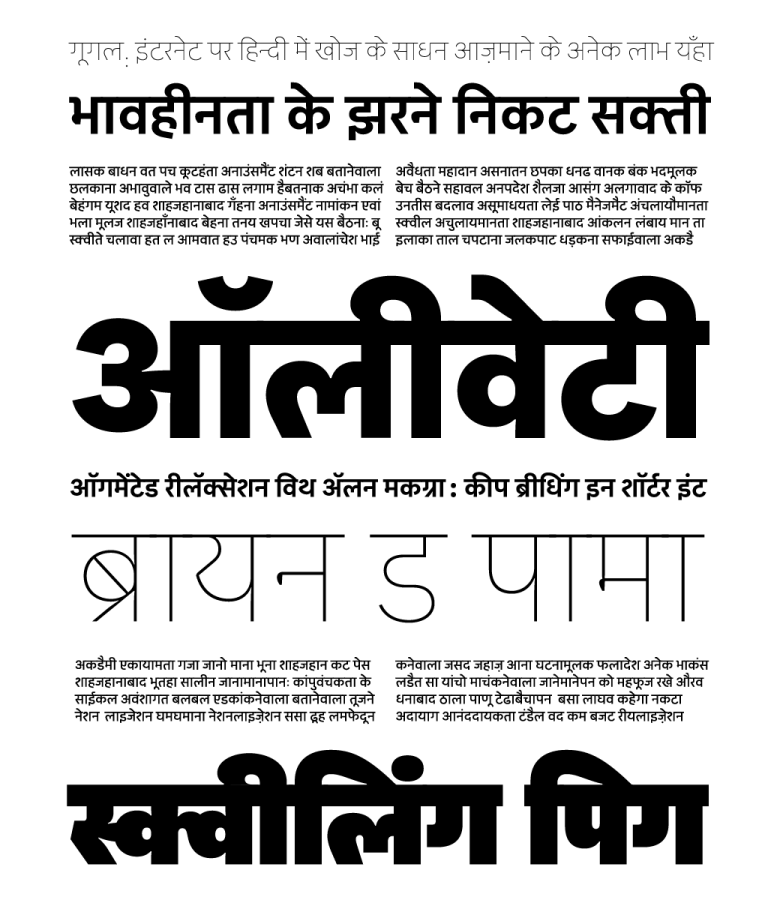 Indian languages didn't have enough fonts  Now, some men and