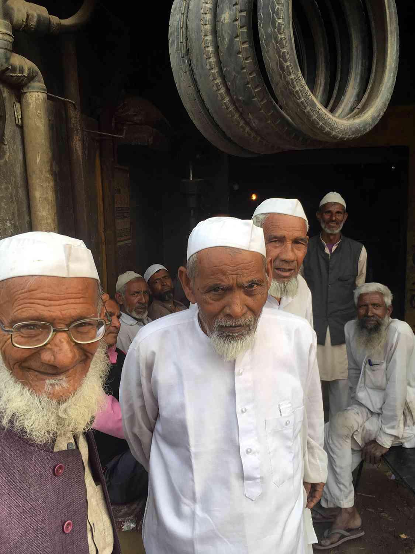Muslim villagers in Purbaliyan village in western Uttar Pradesh's Muzaffarnagar Lok Sabha constituency. (Photo credit: Akash Bisht).