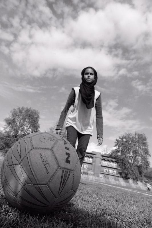 A member of Afshan Ashiq's football team.
