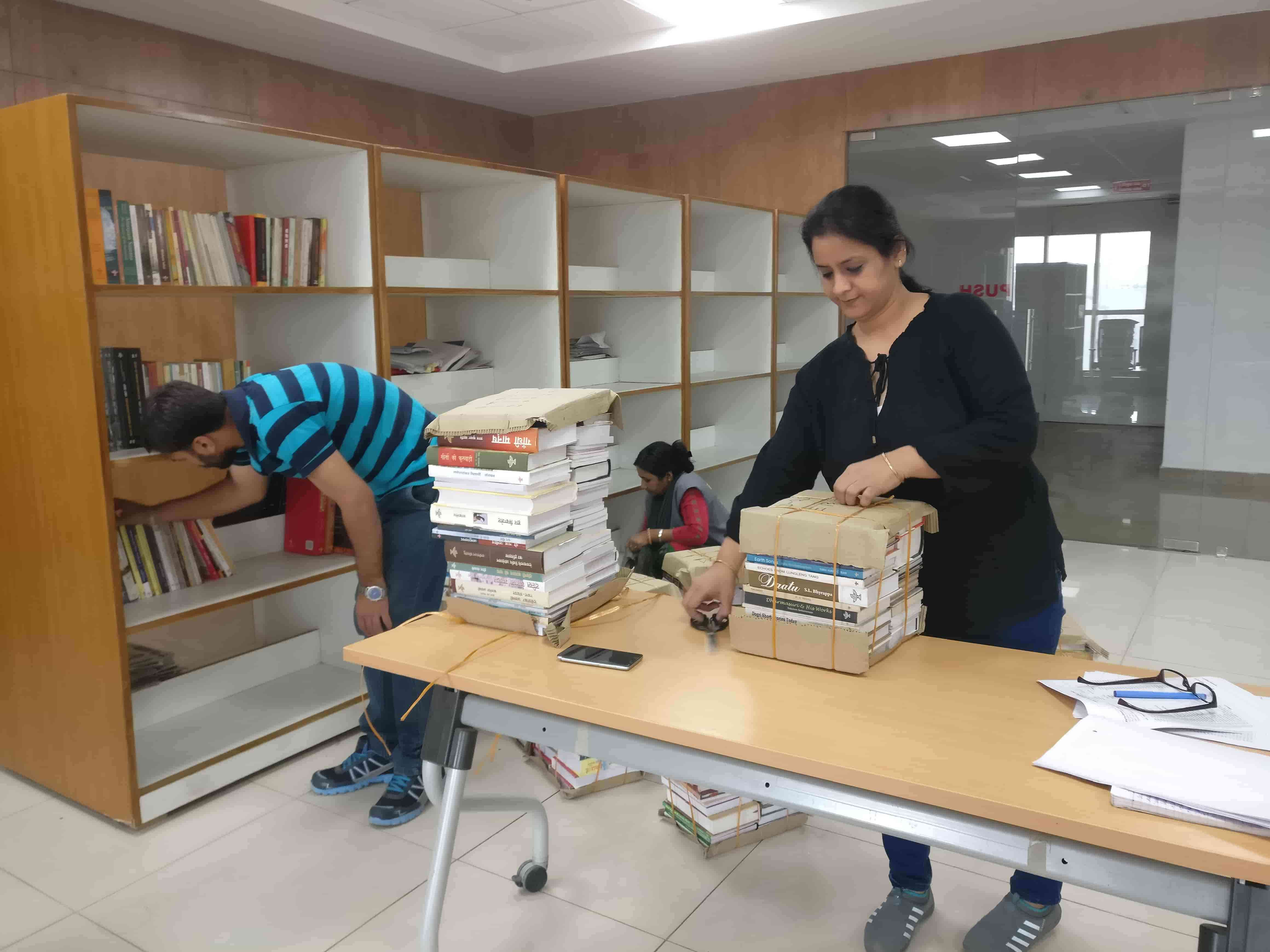 The institute's library is still a work in progress. Apart from the Election Commission's manuals and books on elections, it will have books from several foreign counties. Photo credit: Shreya Roy Chowdhury